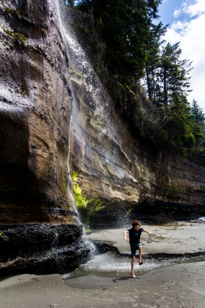 BC kona waterfall